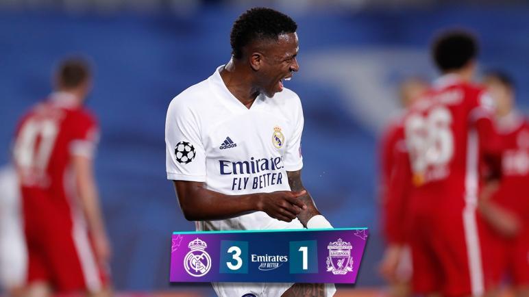ريال مدريد يفوز على ليفربول بثلاثية في ذهاب ربع نهائي دوري أبطال أوروبا