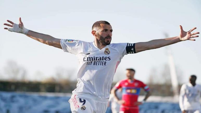 الدوري الإسباني..بنزيمة يخطف فوز قاتل لريال مدريد إمام إلتشي