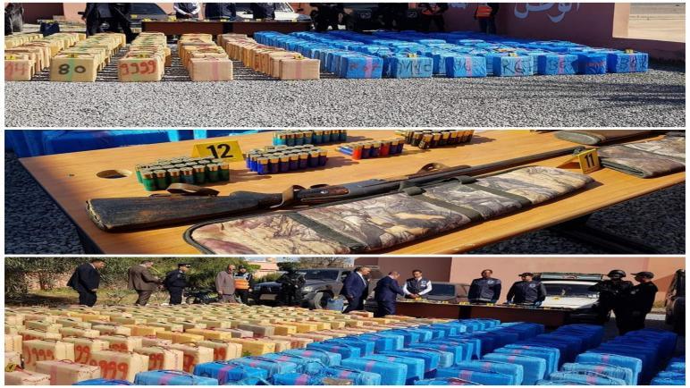 حجز أزيد من 7 أطنان من مخدر الشيرا واعتقال 8 أشخاص..باكليميم