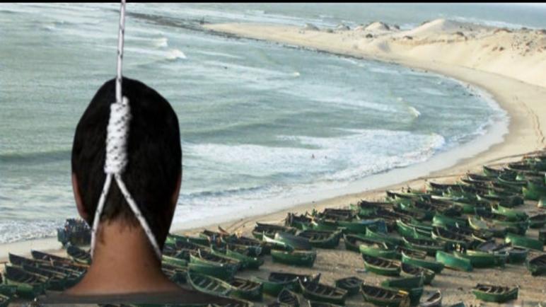 """العثور على جثة بحار معلق بحبل """"بنتيرفت"""" شمال مدينة الداخلة.. و السلطات الأمنية تفتح تحقيح في النازلة"""