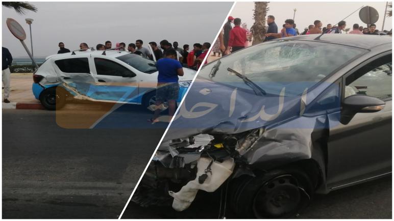 حادث سير خطير بشارع محمد الخامس قرب المحكمة الابتدائية