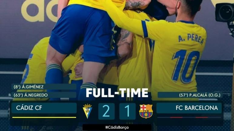 الدوري الإسباني..برشلونة يستمر في نتائجه الهزيلة بخسارة أمام قادش