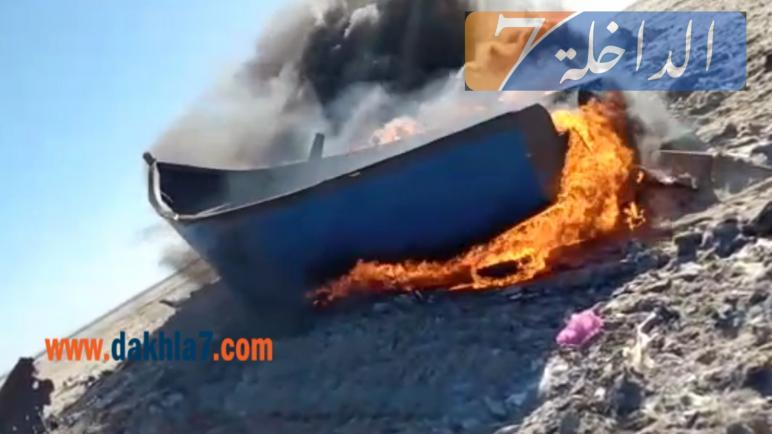 "جنوح قارب ديال لحريكَ فيه 29 حراك مغربيا بشاطى ""لاساركا"" (صور)"