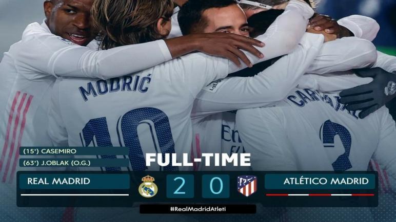 الدوري الإسباني..ريال مدريد يُلحق الخسارة الأولى بأتلتيكو في الليجا