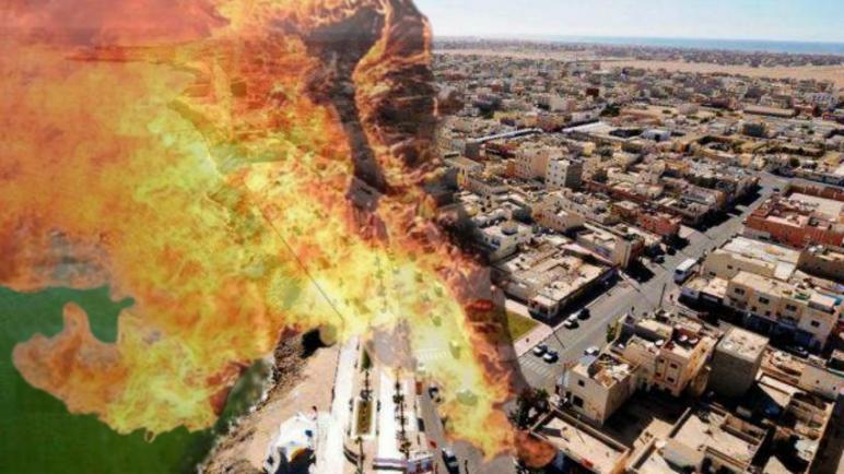 النار لا زالت وسيلة للاحتجاج..هاعلاش شاب حرق راسو بالقرب من لكومسيرية بالداخلة