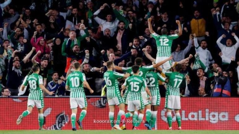 ثنائية بيتيس تجرد ريال مدريد من صدارة الليجا