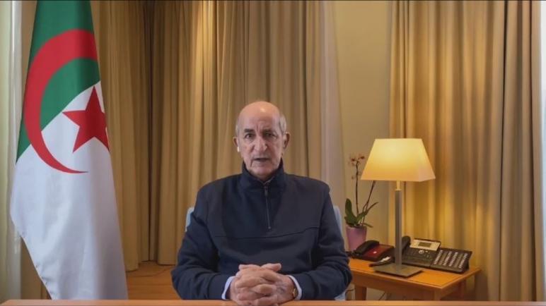 أول ظهور للرئيس الجزائري عبد المجيد تبون على التلفزيون منذ 15 أكتوبر
