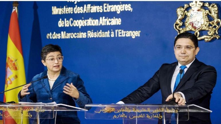 ناصر بوريطة يتباحث مع وزيرة الخارجية الإسبانية..وبدء التحضيرات للإجتماع رفيعالمستوي