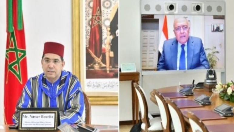بوريطة يجري مباحثات مع وزير خارجية مصر و قضية الصحراء على رأسها